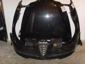 Alfa romeo 147 sport 2002 Καπό εμπρός κομπλέ μαύρο