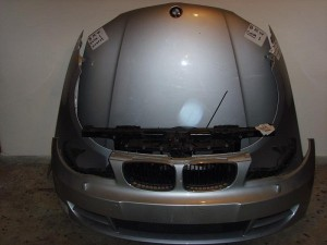 BMW E82-Ε88 08-13 cabrio Καπό εμπρός κομπλέ ασημί