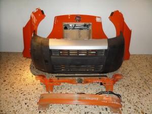 Fiat fiorino 10 Καπό εμπρός κομπλέ πορτοκαλί