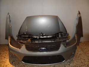 Ford c-max 07-10 Καπό εμπρός κομπλέ ασημί
