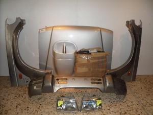Hyundai galloper Καπό εμπρός κομπλέ ασημί