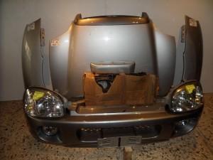 Hyundai santa fe 00-06 Καπό εμπρός κομπλέ ασημί