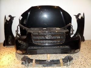 Hyundai santa fe 06-10 Καπό εμπρός κομπλέ μαύρο