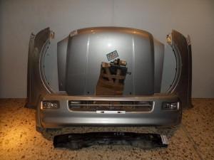 Isuzu d-max 2002-2007 μετώπη εμπρός κομπλέ ασημί