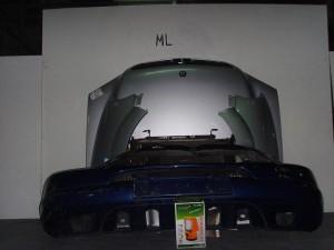 Mercedes ML w163 98-05 Καπό εμπρός κομπλέ ασημί