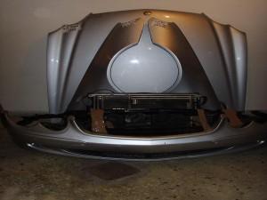 Mercedes SL r230 2002-2008 μετόπη-μούρη εμπρός κομπλέ ασημί