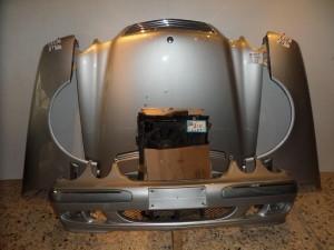 Mercedes w210 1998-2001 Καπό εμπρός κομπλέ ασημί