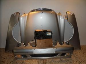 Mercedes w210 98-01 Καπό εμπρός κομπλέ ασημί