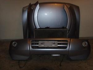 Mitsubishi Pajero 5θυρο 2001-2007 μετώπη-μούρη εμπρός κομπλέ ασημί
