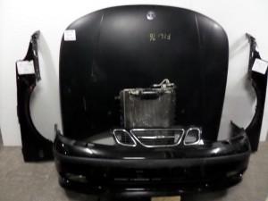 Saab 9-5 05 Καπό εμπρός κομπλέ μαύρο