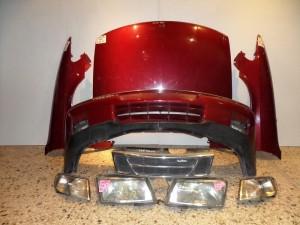 Saab 900 93-98 Καπό εμπρός κομπλέ κόκκινο