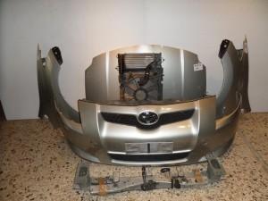 Toyota auris 07-10 Diesel Καπό εμπρός κομπλέ ασημί