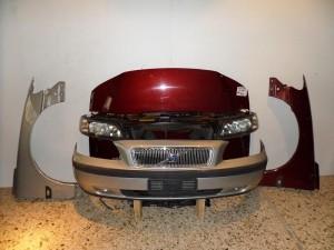 Volvo S60 01-04 Καπό εμπρός κομπλέ ασημί & μπορντό