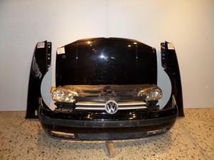 VW Golf 4 Καπό εμπρός κομπλέ μαύρο