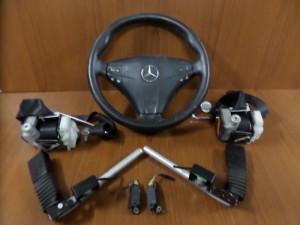 Mercedes cl class w203 coupe 2004-2008 set airbag μαύρο