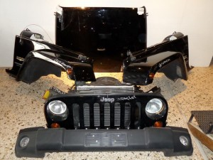 Jeep wrangler 2007-2010 μετώπη εμπρός κομπλέ μαύρο