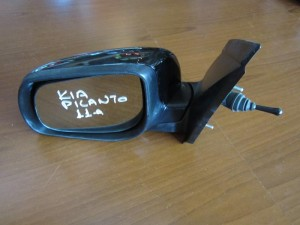 Kia Picanto 2011-2016 μηχανικός καθρέπτης αριστερός μαύρος