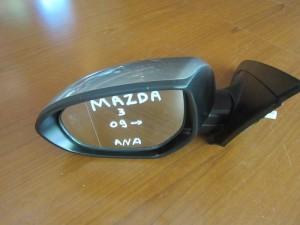 Mazda 3 2009-2013 ηλεκτρικός ανακλινόμενος καθρέπτης αριστερός σκούρο ασημί