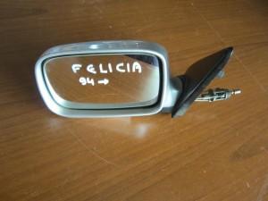 Skoda felicia 94 μηχανικός καθρέπτης αριστερός ασημί