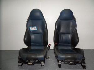 BMW Z3 1996-2002 κάθισμα bucket εμπρός αριστερό-δεξί μπλέ-μαύρο δερμάτινα