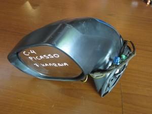 Citroen C4 Picasso 2007-2013 ηλεκτρικός καθρέπτης αριστερός σιέλ (7 καλώδια-πλαίσιο ματ)