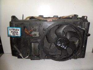 Citroen Xsara 1997-2006 1.6-2.0cc βενζίνη ψυγείο κομπλέ (νερού-air condition-βεντιλατέρ)