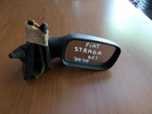 Fiat strada 1996-2001 μηχανικός καθρέπτης δεξιός άβαφος-μαύρος