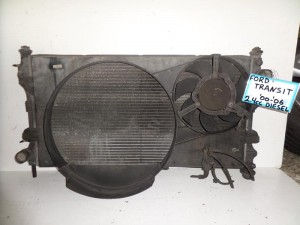 Ford Transit 2000-2006 2.4cc diesel ψυγείο κομπλέ (νερού-air condition-βεντιλατέρ)