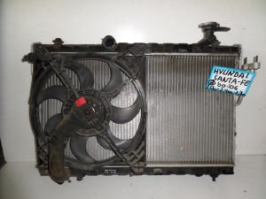 Hyundai santa fe 2000-2006 2.0cc-2.4cc-2.7cc βενζίνη ψυγείο κομπλέ (νερού-aircondition-βεντιλατέρ)