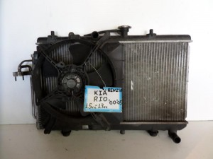 Kia Rio 2005-2012 1.4cc βενζίνη ψυγείο κομπλέ (νερού-air condition-βεντιλατέρ-δοχείο υπερχείλισης)