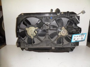 Mazda Rx8 2003-2012 βενζίνη ψυγείο κομπλέ (νερού-aircondition-βεντιλατέρ)