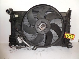 Mercedes Clk w209 2002-2009 1.8cc-2.0cc-2.4cc βενζίνη ψυγείο κομπλέ (νερού-air condition-βεντιλατέρ-λαδιού)