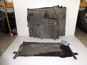 Nissan Navara D22 2001-2010 diesel ψυγείο κομπλέ (νερού-air condition-λαδιού)