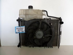 Nissan Note 2006-2009 1.6cc ψυγείο κομπλέ (νερού-air condition-βεντιλατέρ)