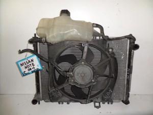 Nissan Note 2006-2013 1.5cc diesel ψυγείο κομπλέ (νερού-air condition-βεντιλατέρ)