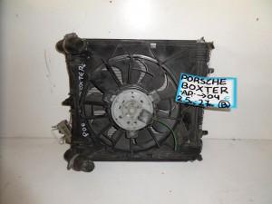 Porsche boxster 986 1996-2004 2.5cc-2.7cc βενζίνη ψυγείο κομπλέ (νερού-air condition-βεντιλατέρ αριστερό)