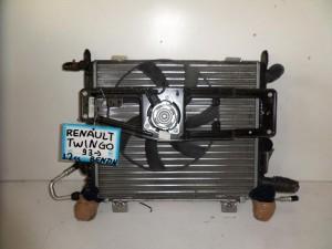 Renault twingo 93 1.2cc βενζίνη ψυγείο κομπλέ (νερού-air condition-βεντιλατέρ)