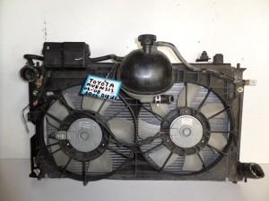 Toyota avensis 2003-2009 2.0cc diesel ψυγείο κομπλέ (νερού-air condition-βεντιλατέρ-δοχείο υπερχείλισης)
