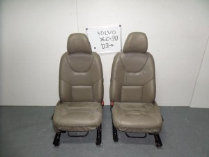 Volvo xc-90 01-10 κάθισμα με airbag εμπρός αριστερό-δεξί μπέζ (δερμάτινα)