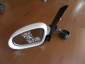 VW golf plus 04 ηλεκτρικός ανακλινόμενος καθρέπτης αριστερός άσπρος (9 καλώδια-φώς ασφαλείας)