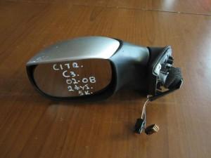 Citroen C3 03-08 ηλεκτρικός καθρέφτης αριστερός ασημί (2 φίς-5 καλώδια)