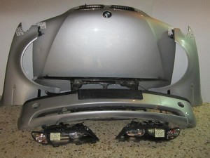 BMW series 3 E46 SDN 02-05 μούρη Καπό εμπρός κομπλέ ασημί