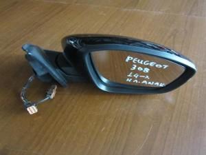Peugeot 308 2014 ηλεκτρικός ανακλινόμενος καθρέφτης δεξιός μαύρος