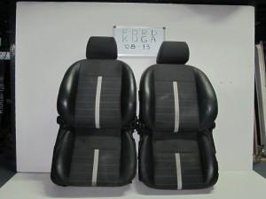 Ford kuga 08-13 καθίσματα εμπρός ζεύγος αριστερό-δεξί μαύρα