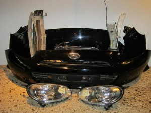 Nissan micra k13 11-14 μούρη-Καπό εμπρός κομπλέ μαύρη