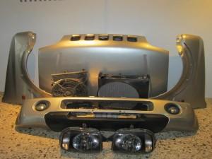 Suzuki Jimny 98-02 μούρη-μετώπη εμπρός κομπλέ ασημί
