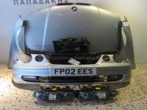 BMW Series 3 E46 compact 2000-2004 μούρη εμπρός κομπλέ ασημί
