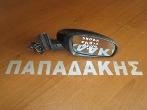 Skoda fabia 2007-2014 ηλεκτρικός καθρέφτης δεξιός μπλέ πετρόλ
