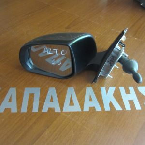 Suzuki Alto 2008-2016 καθρέπτης αριστερός μηχανικός ασημοκαφέ