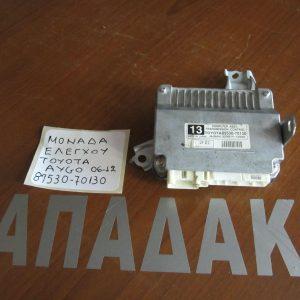 Toyota Aygo 2012-2014 μονάδα ελέγχου (ΚΩΔ:89530-70130)